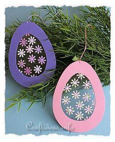 Easter Craft for Kids - Transparent Easter Egg Window Decoration