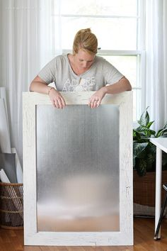 http://www.cadecga.com/category/Ironing-Board/ Get organized with this DIY Framed Dry Erase Board! It's simple to make and magnetic too! Get the full tutorial at LoveGrowsWild.com