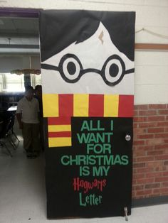Harry potter Christmas door 2014