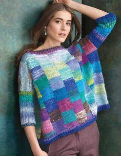 Ravelry: Squared pattern by Margie Kieper Creative Knitting, Stitch Fit, Crochet Fashion, Knitting Designs, Hand Knitting, Knitwear, Knitting Patterns, Knit Crochet, Couture