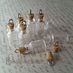 DIY glass bottle Small message bottle pendant by beadingmom