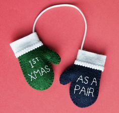 This would be cute to use as an idea for a christmas card to a couple for their first christmas!!! 1st Christmas, Diy Christmas Gifts, All Things Christmas, Holiday Crafts, Holiday Fun, Christmas Holidays, Christmas Decorations, Christmas Ideas, Christmas Pictures