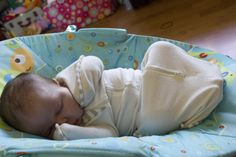 The Love To Swaddle Up in action. Sleeping like a baby :)
