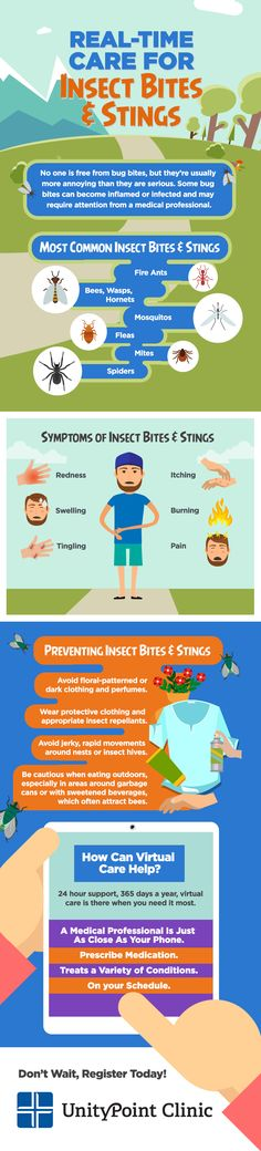 Summer is finally here! And with the warmer weather comes the potential for serious bug bites and stings. Don't let these pests ruin your time outside, register for virtual care today!