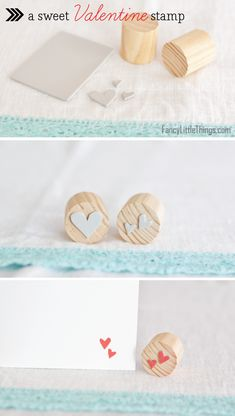 Make your own stamps using foam :) #stamp #foam #hearts
