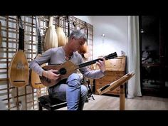 The norwegian lutenist Rolf Lislevand playing an original Stradivarius-guitar. The Sabionari baroque-guitar was built by A. Stradivarius in 1679.   In this demonstration Lislevand plays his arrangement of Santiago de Murcia's Tarantella.