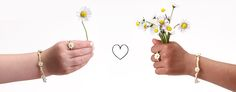 """#sterlingsilver #daisy collection with adorable """"Free"""" word charm available at jacquesandsienna.com"""