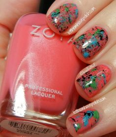 Pink Wednesday! Zoya Micky Splatter