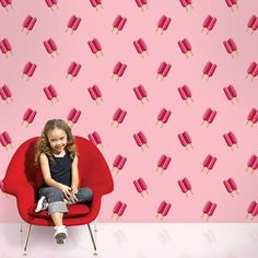 Wall Candy Arts Twin Pops Removable Wallpaper in Pink FREE SHIPPING