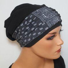 BEANIE mit Band ideal nach Chemo oder Alopezie von Kopf & Kragen Design auf DaWanda.com