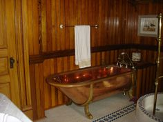Solid copper tub at the Montgomery mansion B in Claysville, PA.