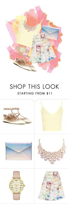 """""""Pastel Splash"""" by niqueolette ❤ liked on Polyvore featuring Valentino, Boohoo, Rebecca Minkoff, Kate Spade and Ted Baker"""