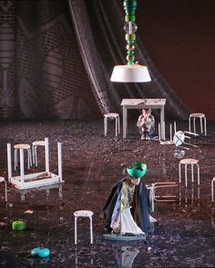 Klaus Grünberg, set and light design for Mazeppa, Vlaamse Opera, 2009