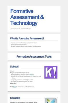 Formative Assessment & Technology: