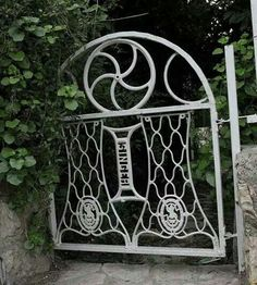 Sewing machine garden gate