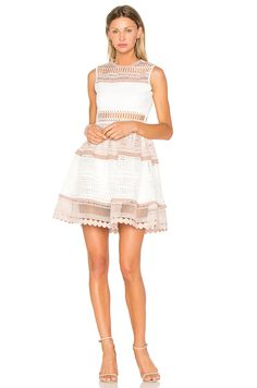 #REVOLVE Lace Dress, White Dress, Scalloped Dress, Cute Crop Tops, Embroidery Dress, Large Size Dresses, Revolve Clothing, Beautiful Gowns, Designing Women