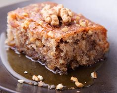 Pear and Apple Coffeecake with Walnut Topping