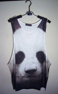 Panda Shirt Animal Tank Top Panda TShirt Panda Tank by PStopshop, $18.99