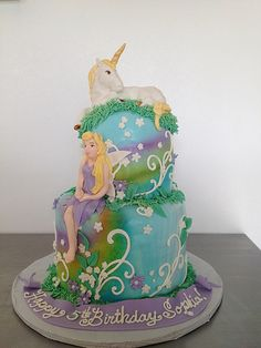 unicorn cake idea for colors