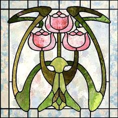 art nouveau modern art deco symbolisme etc Stained Glass Door, Stained Glass Flowers, Stained Glass Designs, Stained Glass Panels, Stained Glass Projects, Stained Glass Patterns, Leaded Glass, Mosaic Glass, Glass Tiles