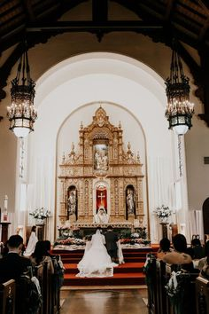 Catholic Wedding # church wedding catholic Stunning Catholic Ceremony at this Unique Pasadena Wedding - Bridesmaids Confession Wedding Locations, Wedding Events, Wedding Ceremony, Bridesmaid Flowers, Wedding Bridesmaids, Church Wedding Catholic, Religious Ceremony, Wedding Bible, Wedding Photography Poses