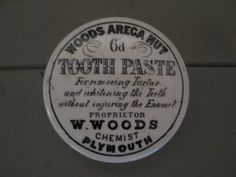 Victorian chemist pot lid woods Areca nut tooth paste by florencemabel on Etsy