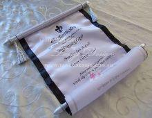 Custom design scroll invitation by Invitations by Tango Design Vintage Invitations, Handmade Wedding Invitations, Unique Invitations, Bridal Shower Invitations, Wedding Stationery, Invites, Invitation Ideas, Scroll Invitation, Invitation Maker