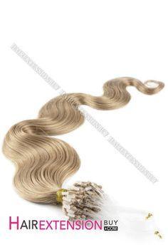 "14"" #12 Body Wave Micro Loop Human Hair Extensions Micro Loop Hair Extensions, Real Hair Extensions, Hair Flip, Body Wave, Virgin Hair, Hair Makeup, Hair Color, Purple, Pink Body"