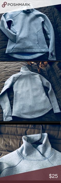 Champion active women's  sweatshirt Stylish active sweatshirt; Excellent condition; Due to the poor light, the color in some of the photos is changed. The real color is blue as shown in the last photo where I'm wearing it. Champion Other