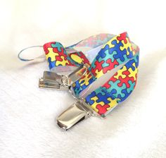 Pacifier Clips, Autism Awareness Inspired www.KAMsnaps.com