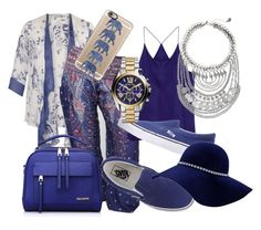 """""""Beautiful Blue"""" by onetribeapparel ❤ liked on Polyvore featuring Chesca, Vans, Express, Michael Kors, Casetify, women's clothing, women's fashion, women, female and woman"""
