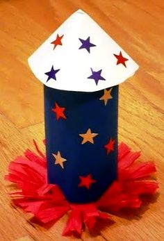 SEASONAL CRAFTS 4th of July Rocket that really pops!  Photobucket Visit website for many more ideas!