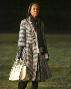 Scandal Fashion Credits: All the Details on What the Stars Wore - Season 3, Episode 8: Dior Houndstooth Coat from #InStyle