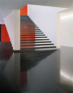 wide floating staircase