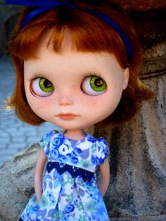 Rudi wearing her pretty Rosi Dress! by Blythesighted, via Flickr