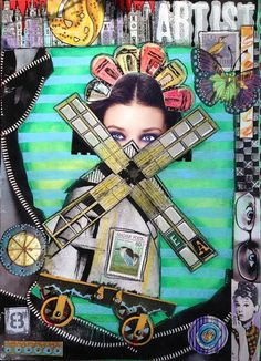 Windmill Girl Collage