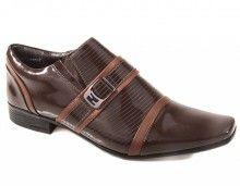 Sapato Calvest Verniz Café R$149.99