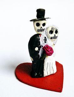 Décorations de mariage, Couple de Mariés Mexicains Têtes de Mort est une création orginale de casa-frida sur DaWanda