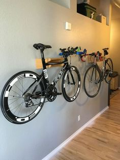 Bikes Discover Neat Bike Storage From overhead to on the wall and beyond discover the top 70 best bike storage ideas. Explore unique and creative bicycle organization designs. Garage Organisation, Diy Garage Storage, Storage Ideas, Storage Solutions, Organization Ideas, Indoor Bike Storage, Bike Wall Storage, Bicycle Storage Garage, Bike Racks For Garage