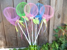 SALE Critter Catcher Nets  Birthday Favors Fairy by juliegalbraith, $10.00