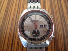 This was professionally overhauled in January 2013 and keeps excellent time. All functions work properly and the chronograph has a nice crisp snap. Seiko Watches, Vintage Watches, Omega Watch, Jewellery, Accessories, Shopping, Fancy Watches, Clocks, Wristwatches