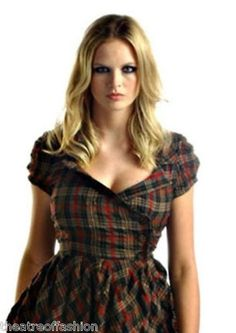 TARTAN DRESS STEAMPUNK VICTORIAN BUSTLE 40s WAR BRIDE 50s ADORABLE BEAUTY SEXY | eBay  ~ Click pic to see more beautiful items ~ http://www.ebay.co.uk/sch/theatreoffashion/m.html?item=300880213224=STRK%3AMESOX%3AIT&_dmd=2&_sop=16