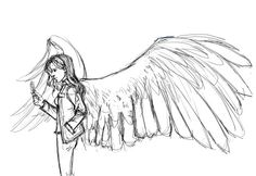 Not All Who Wander Are Lost - sketch of Anna wip~ Wings Drawing, Angel Drawing, Drawing Base, Character Inspiration, Character Art, Character Design, Art Reference Poses, Drawing Reference, Drawing Sketches