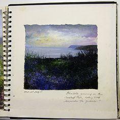 Amanda Hoskin sketchbook- Evening Sky