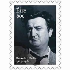 ~Brendan Behan~ Irish poet, writer, and patriot ☘ Roisin Dubh, Easter Rising, Ireland Uk, Irish People, Erin Go Bragh, Emerald Isle, Stamp Collecting, Postage Stamps, History
