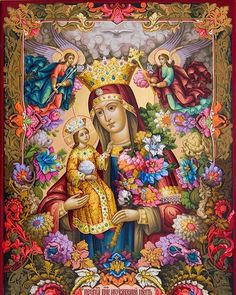 Postări pe Instagram de la Dimitris Kartalis • Nov 12, 2018 la 3:45 UTC Blessed Mother Mary, Divine Mother, Religious Icons, Religious Art, Hail Holy Queen, Queen Of Heaven, Mama Mary, Immaculate Conception, Holy Mary