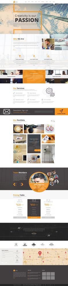 Alicia is a modern multipurpose PSD template with 3 different homepage layouts. #psdtheme Download Now!