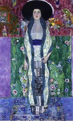 Gustav Klimt Portrait of Adele Bloch-Bauer II, painting