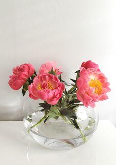 Perfect pink peony floral arrangements.
