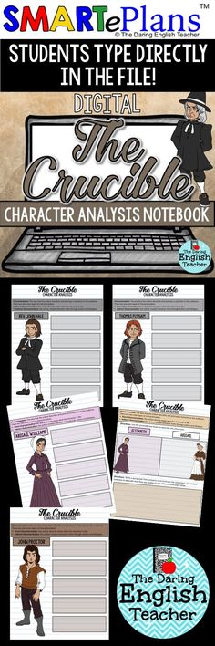 Teaching The Crucible in a digital classroom? Try these digital character analysis interactive notebooks! These are ideal for high school English and American literature classes.